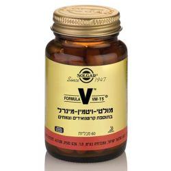 VM75 מולטי ויטמין-מינרל בתוספת קרוטנואידים וצמחים