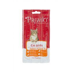 חטיף פרמיו קט סטיק לחתולים בטעם סלמון ופורל