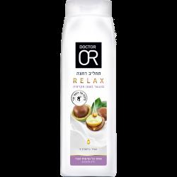 תחליב רחצה RELAX מועשר בשמן מקדמיה