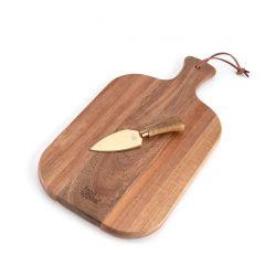 """קרש וסכין גבינה 38x20x1.5 ס""""מ PERCY"""