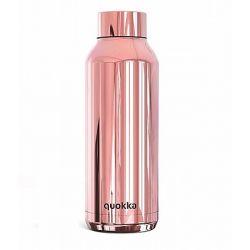 """בקבוק שתיה תרמי 510 מ""""ל SOLID SLEEK ROSE GOLD מבית QUOKKA"""
