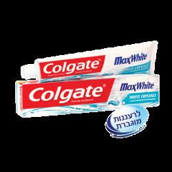 משחת שיניים קולגייט מקס וייט מלבינה