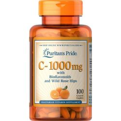 """ויטמין C1000 מ""""ג בתוספת ביופלבונואידים ופקעות ורדים"""