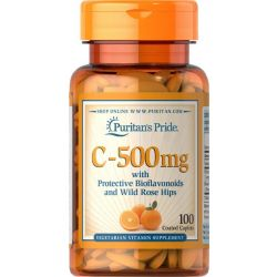 ויטמין C500 עם ביופלבונואידים ופקעות ורדים
