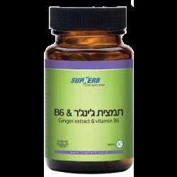 תמצית ג'ינג'ר וויטמין B6