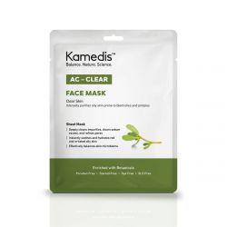 מסיכת בד לניקוי עמוק לעור שמן עם נטייה לפצעונים | AC - CLEAR FACE MASK