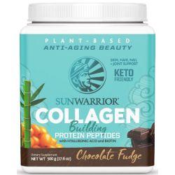 קולגן טבעוני בטעם שוקולד פאדג' SUNWARRIOR