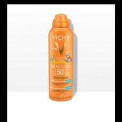 ספריי דוחה חול להגנה על העור מפני נזקי השמש SPF50+ לשימוש על עור הפנים והגוף מיוחד לילדים