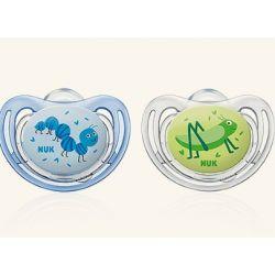 זוג מוצצים פריסטייל 6-18 חודשים ירוק כחול