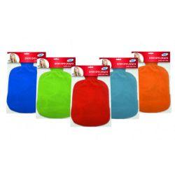 בקבוק מים חמים עם כיסוי מפנק (צבעים לבחירה)