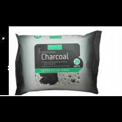 מגבונים Charcoal לספיחת רעלים וניקוי יסודי של הפנים בתוספת פחם פעיל